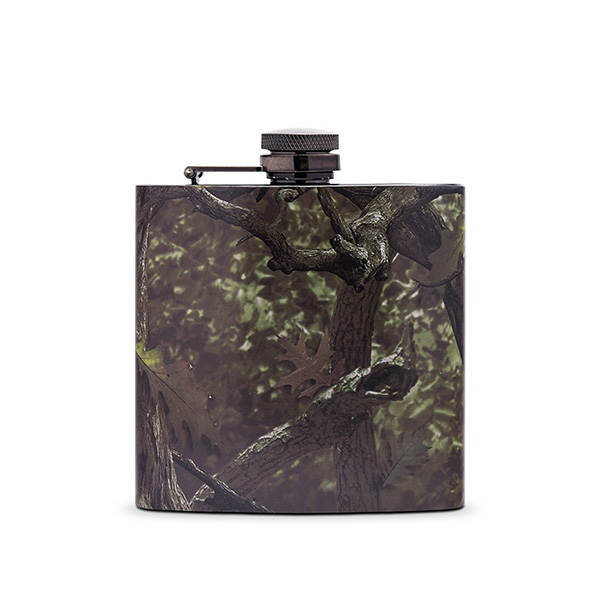 Personalized Camo Hip Flask