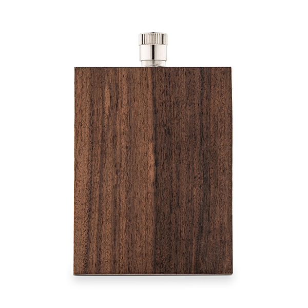 Personalized Rustic Wood Flask