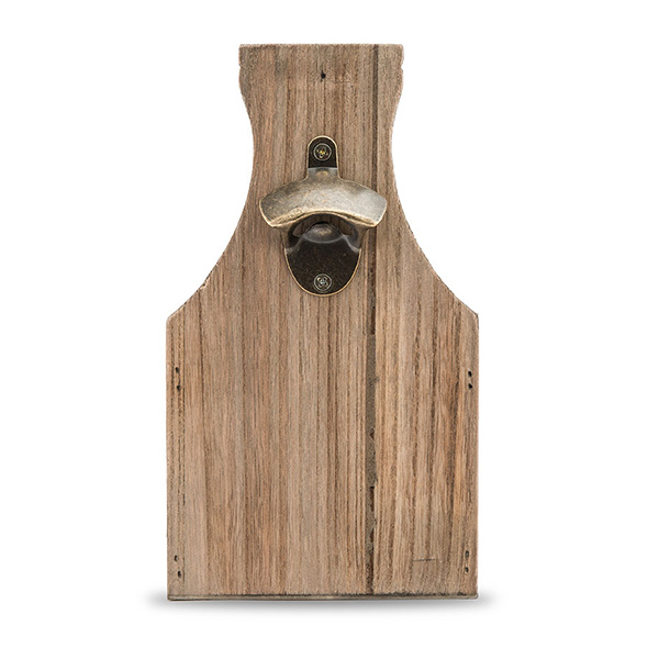 Wooden Beer Bottle Caddy - Front View